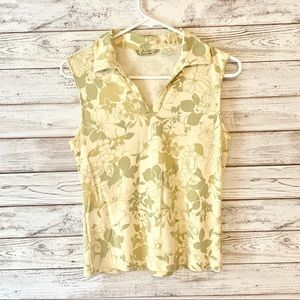 Tommy Bahama Floral Silk Sleeveless Blouse S